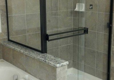 Framed shower glass install Crystal Lake Illinois